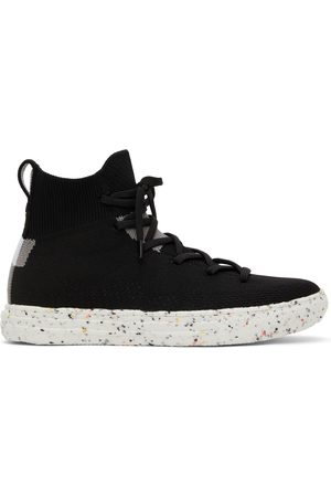 Converse Black Crater Knit Renew Chuck Taylor All Star High Sneakers