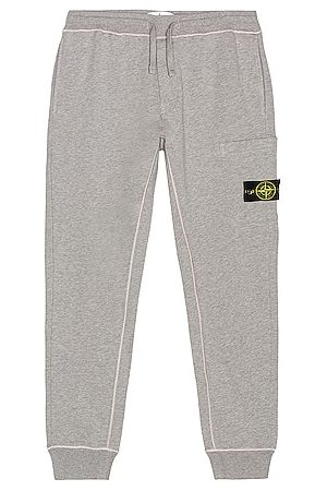Stone Island Fleece Cargo Pants in Grey