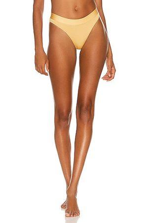 Monica Hansen Beachwear Sporty High Rise Full Bottom in Mustard