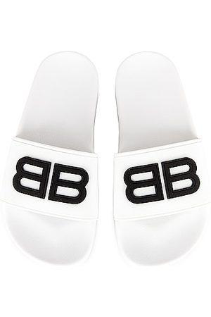 Balenciaga BB Pool Slides in