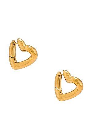 Balenciaga Heart Loop Earrings in Metallic