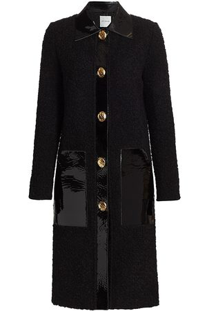 St. John Women's Patent Leather-Trimmed Bouclé Knit Jacket - - Size 10