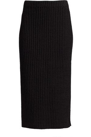 ST. JOHN Women's Rib-Knit Pencil Skirt - - Size Large