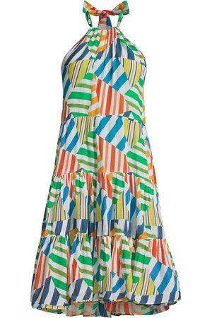 Solid and Striped Women's The Brianna Halterneck Dress - Broken Stripes Multi - Size Medium