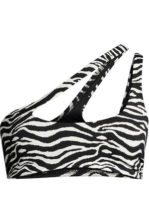 Solid and Striped Women's The Brody Zebra Print Bikini Top - Zebra Jacquard - Size XL