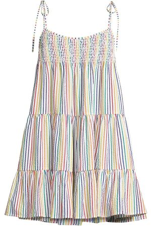 Solid and Striped Women's The Parker Cotton Dress - Rainbow Pin Stripe - Size XL