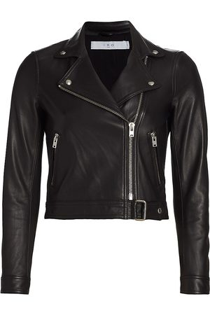 IRO Women's Kolmar Leather Motorcycle Jacket - - Size 8