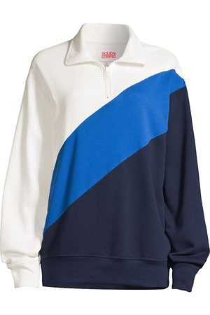 Solid and Striped Women's The Pullover Terry Sweatshirt - Midnight - Size Large