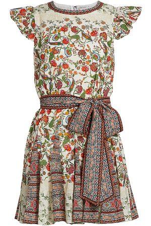 ALICE+OLIVIA Women's Mina Floral Belted Godet Minidress - Day Dreamer - Size 12
