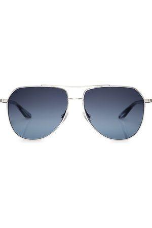 Barton Perreira Men's Voltaire 58MM Aviator Sunglasses - Crystal