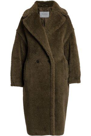 Max Mara Women's Teddy Wool Blend Coat - Kaki - Size Medium