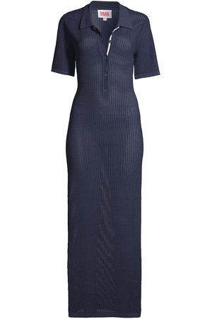 Solid and Striped Women's The Leigh Polo Dress - Tech Mesh Midnight - Size XL