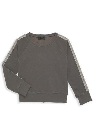 MONROW Little Girl's & Girl's Raglan Chevron-Trim Sweatshirt - Grey - Size 2