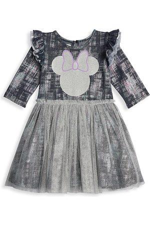 Disney x Pippa & Julie Baby Girl's Pippa & Julie Minnie Foil Denim Tutu Dress - Grey - Size 18 Months