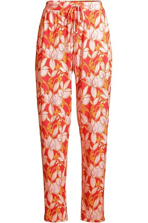 Hanro Women's Sleep and Lounge Woven Long Pants - Sunny Flower Print - Size XS