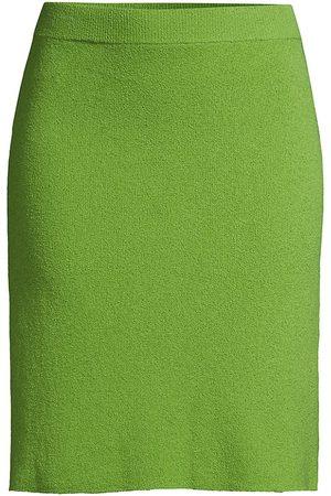 REBECCA TAYLOR Women's Mini Boucle Pencil Skirt - Apple - Size Medium