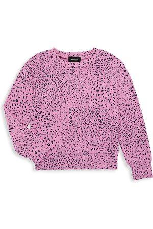 MONROW Little Girl's & Girl's Mini Cheetah Raglan Sweatshirt - Hot - Size 2