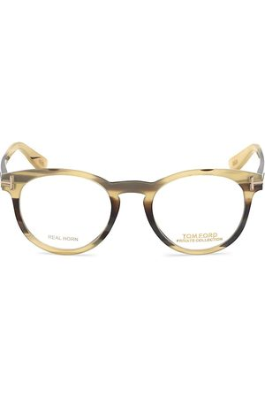 Tom Ford Men's Private 49MM Round Optical Glasses