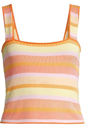 Solid and Striped Women's The Ryan Striped Tank Top - Size Large