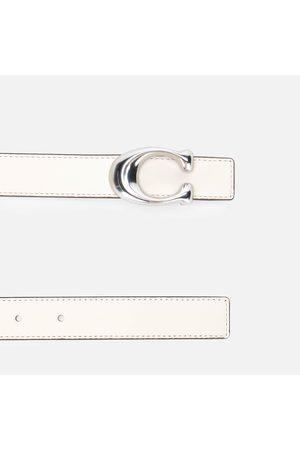 Coach Women Belts - Women's 25mm Sculpted C Reversible Belt