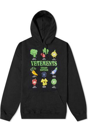 Vetements Men Hoodies - Vegan Logo Oversized Hoody