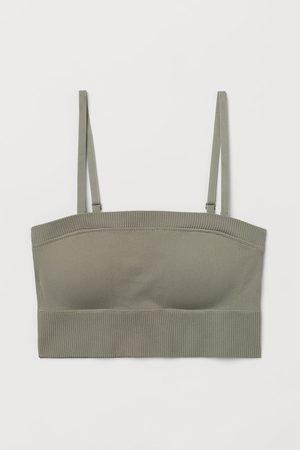 H&M Women Strapless Tops - Seamless Sports Bandeau Top