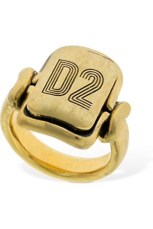 Dsquared2 Men Rings - D2 Squared Thick Ring
