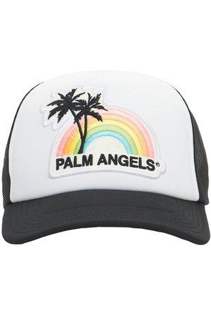 Palm Angels Men Caps - Lvr Exclusive Rainbow Patch Canvas Cap