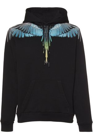 MARCELO BURLON Printed Wings Cotton Jersey Hoodie