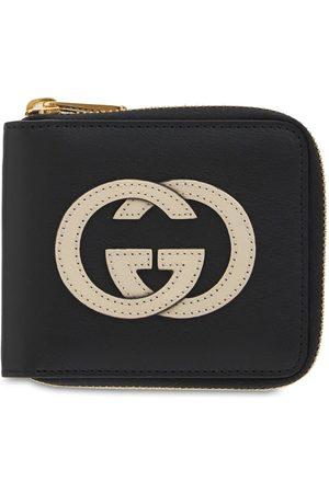Gucci G Interlocking Leather Zip Around Wallet