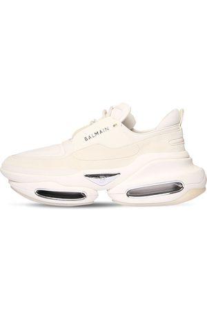 Balmain B Bold Low Suede & Neoprene Sneakers