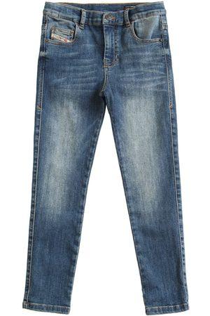 Diesel Girls Stretch - Washed Stretch Cotton Jeans