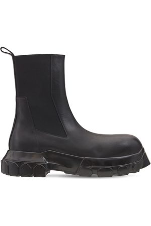 Rick Owens Men Boots - Beatle Bozo Tractor Leather Boots