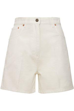 Gucci Women Bermudas - Washed Cotton Bermuda Shorts