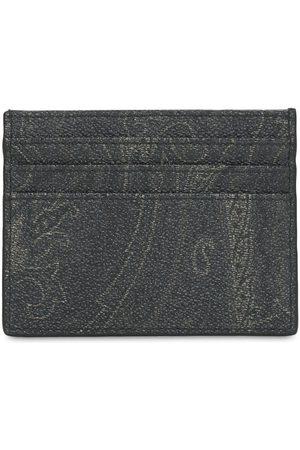 Etro Paisley Print Coated Cotton Card Holder