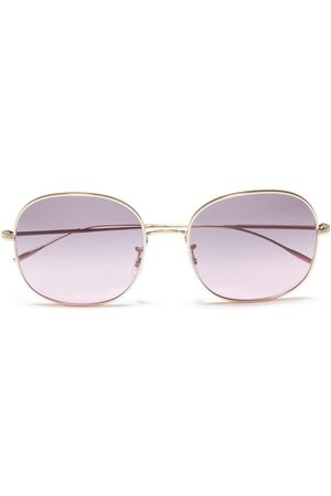Oliver Peoples Women Square - Woman Mehrie Square-frame Gold-tone Sunglasses Lilac Size
