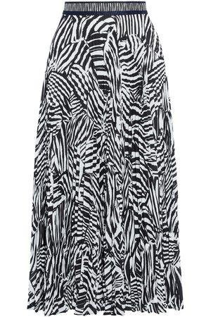 Missoni Women Printed Skirts - Woman Wrap-effect Pleated Zebra-print Crepe Midi Skirt Size 40