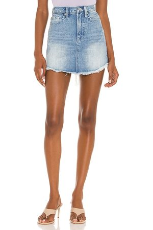 7 for all Mankind Mini Skirt With Uneven Fray in .