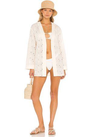 Lovers + Friends Breanne Robe Jacket in Ivory.
