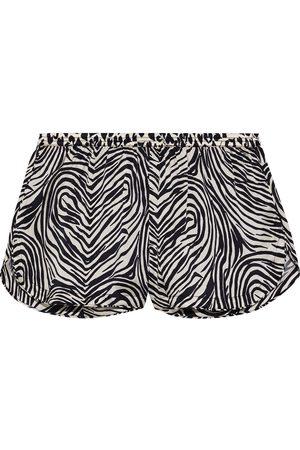 Stella McCartney Women Pajamas - Woman Maggie Twisting Printed Silk-blend Satin Pajama Shorts Size L