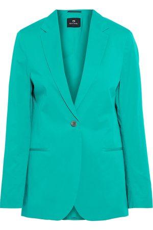 Paul Smith Women Blazers - Woman Cotton-blend Poplin Blazer Jade Size 40