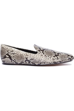Vince Woman Paz Snake-effect Leather Loafers Animal Print Size 10