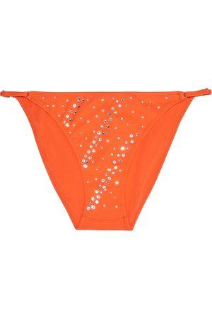 I.D. Sarrieri Women Bikinis - Woman Crystal-embellished Neon Low-rise Bikini Briefs Bright Size 1