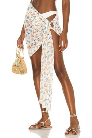 Lovers + Friends Stasia Sarong in White.