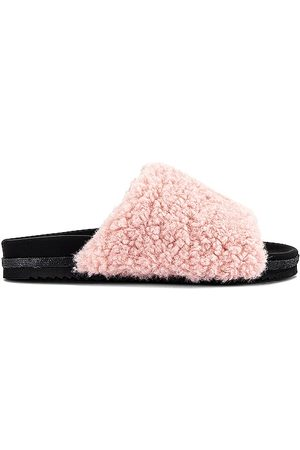 R0AM Fuzzy Faux Fur Slide in .