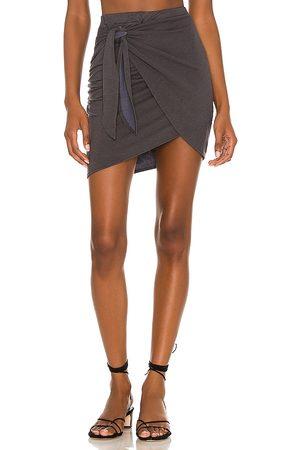 MONROW Women Mini Skirts - X REVOLVE Supersoft Skirt in Charcoal.