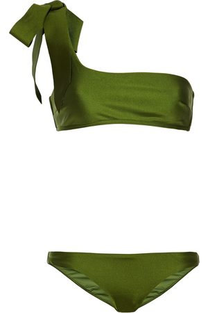 ZIMMERMANN Women Bikinis - Woman Empire One-shoulder Bow-detailed Bikini Leaf Size 3