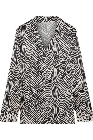 Stella McCartney Women Pajamas - Woman Maggie Twisting Printed Silk-blend Satin Pajama Shirt Size L