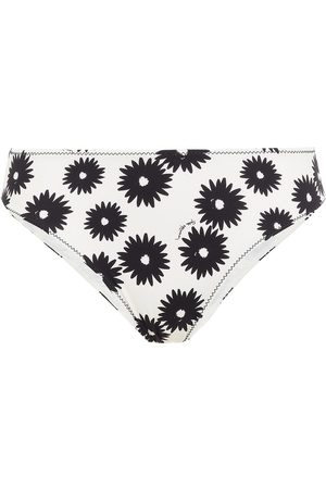 Stella McCartney Women Bikinis - Woman Linda Floral-print Mid-rise Bikini Briefs Ivory Size L