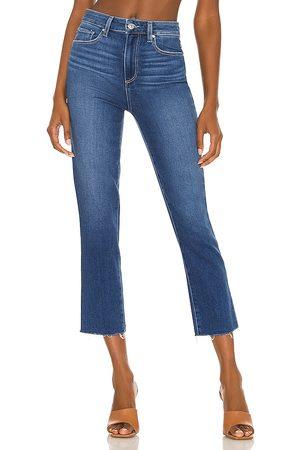 Paige Sarah Slim Crop Jean in Blue.